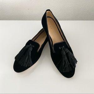 M. GEMÍ Black Velvet Loafers